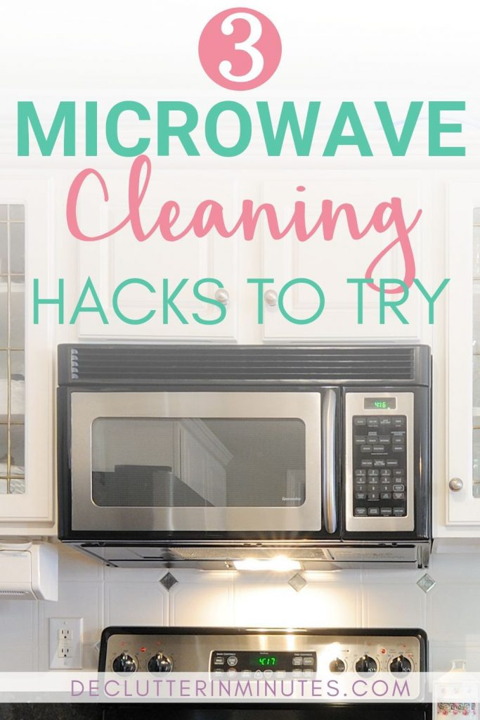 There is nothing worse than a microwave that resembles a war zone. Caked on cement like food that seems impossible to remove. I did my research and found 3 microwave cleaning hacks that will have you loving your microwave again. #cleaninghacks #cleaningtips #microwave