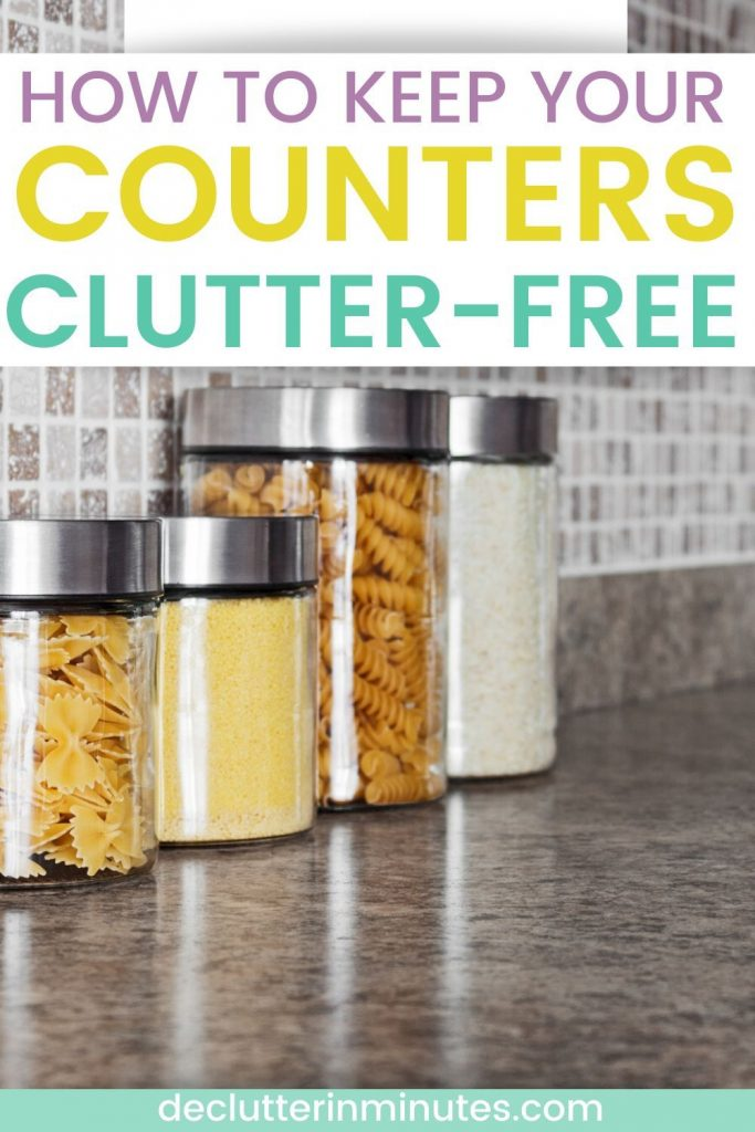 clutter-free counters