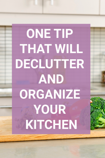 Are you struggling to declutter and organize your kitchen? Is it any wonder when so many things happen in one room. This simple tip will help you set up a space that is streamlined and clutter-free. Love your kitchen again with this one tip! #kitchentips #clutter #organize