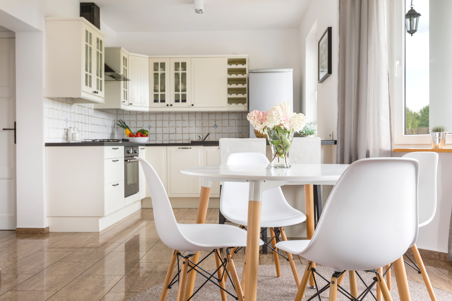 a neat and clutter free kitchen counters