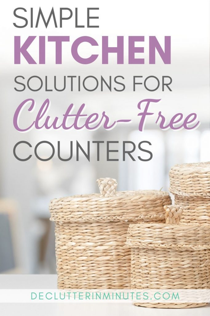 Sometimes it's the simple tips that make the biggest impact. If you are struggling with surface clutter in your home then this tip will help you fix all of that. A family-wide tip that will help everyone keep their things in check so they are not looking for lost items. Kitchen clutter solutions you can use all over your home. #kitchentips #clutter #organize