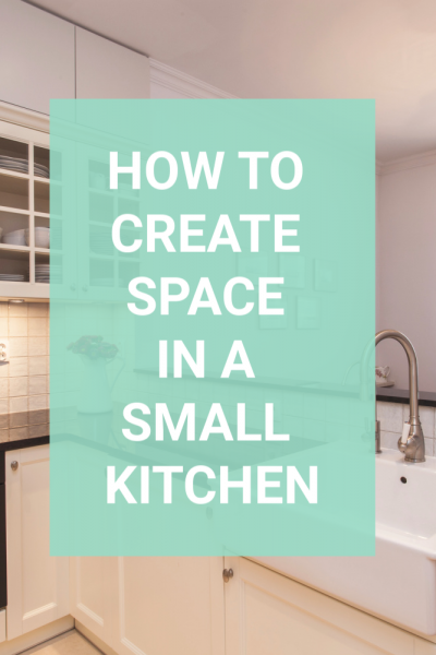 If you are frustrated with the size of your kitchen, use these tips to find a bit more space. Simple tips that you can use that will have you loving your kitchen again. #kitchentips #kitchenorganizers #declutter