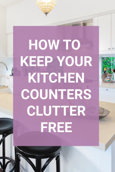 Do you struggle with things always ending up on your kitchen counters? I don't know what it is but those counters are a dropping ground for every member in my family. These tips will help you remove the clutter then keep it off so you can love your kitchen again. #clutter #declutter #kitchentips