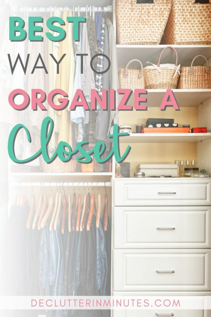 How to organize your closet so it stays clutter free~!