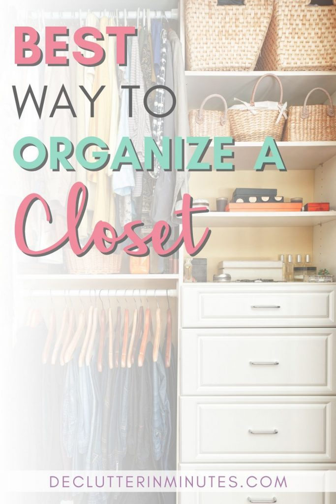 Hate your closet? Dread going inside? Let's change all of that. When so much happens in such a small space having things set up in an organized way is crucial. I know it can seem a bit overwhelming but it doesn't have to. This ultimate guide to the best way to organize a closet will walk you through not only how to set things up but give you affordable and even a few DIY tips to get there. #organizedcloset #closet #closetorganization