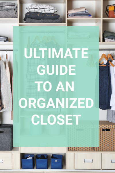 Why are so many closets a chaotic mess? When so many things get stored in such a small space organizing it the right way is key. This ultimate guide will help you set up a closet you love rather than one you dread. Tips on the best ways to organize a closet will help you find a system you love. #closetorganization #closet #organizedcloset