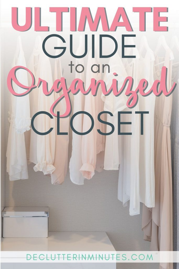 Hate your closet? Dread going inside? Let's change all of that. When so much happens in such a small space having things set up in an organized way is crucial. I know it can seem a bit overwhelming but it doesn't have to. This ultimate guide to an organized closet will walk you through not only how to set things up but give you affordable and even a few DIY tips to get there. #organizedcloset #closet #closetorganization