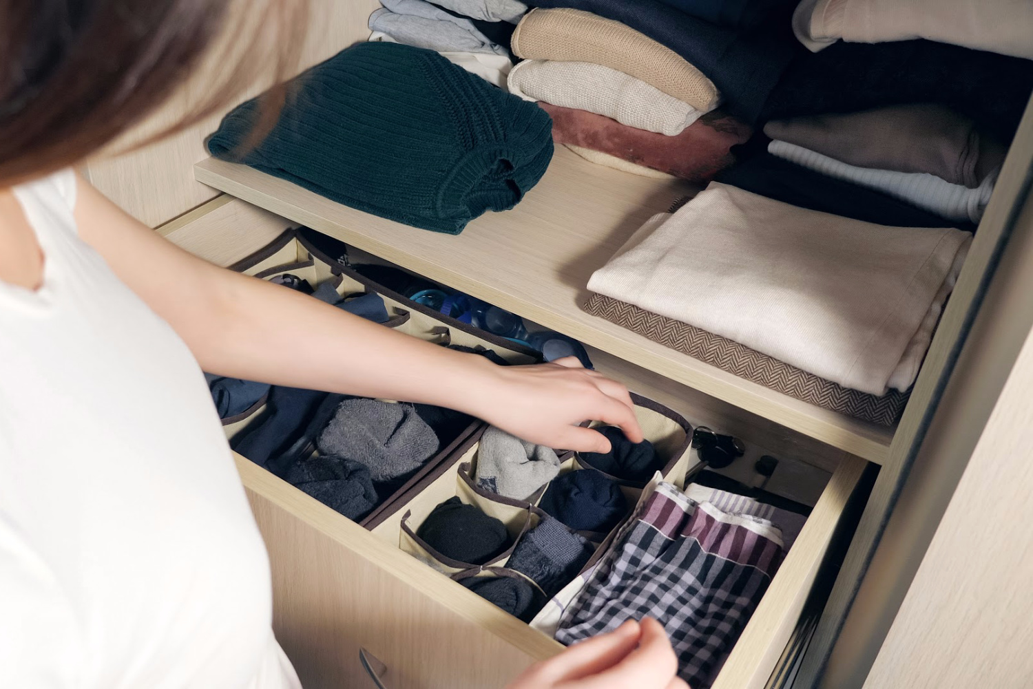 organize a drawer as the best way to organize a closet
