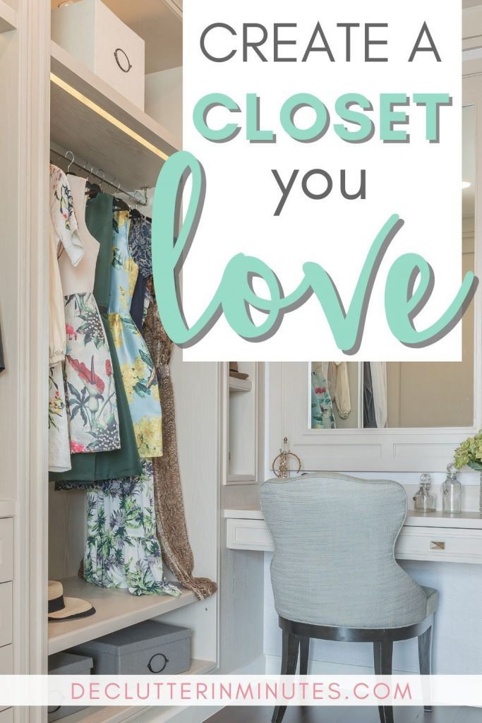 Love your closet again? These rules for cleaning out a closet will walk you through a simple way to clean out this important space. Remove the overwhelm that comes with our things when so much emotion is attached and finally set up a space you love. #closetorganization #closet #declutter