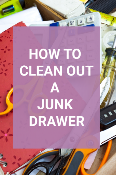 how to clean out a junk drawer