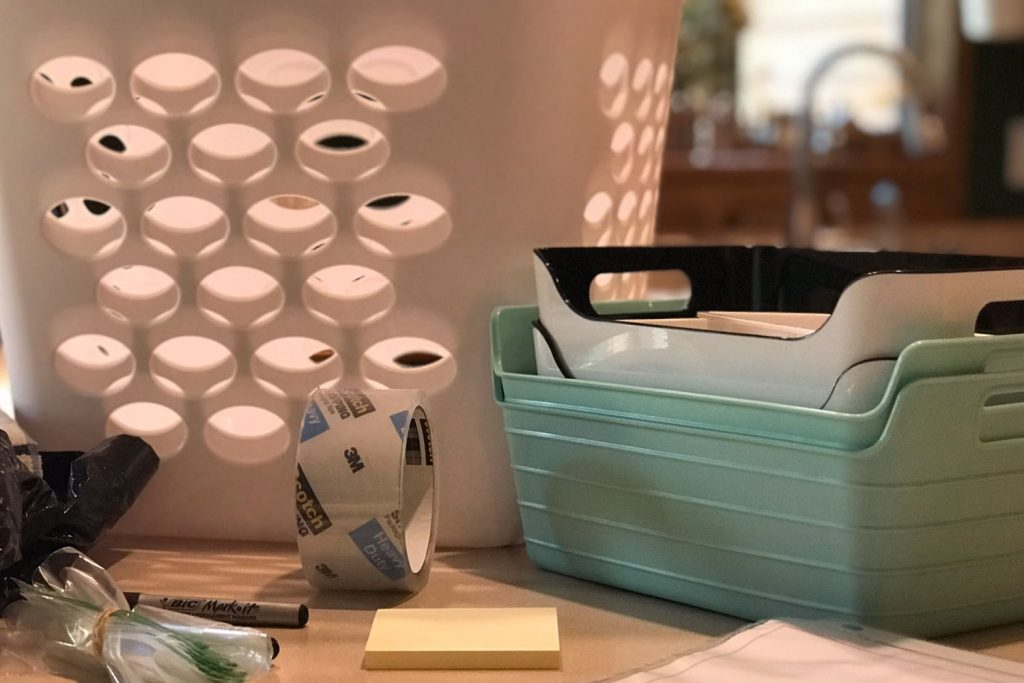 tools needed to declutter and organize a space