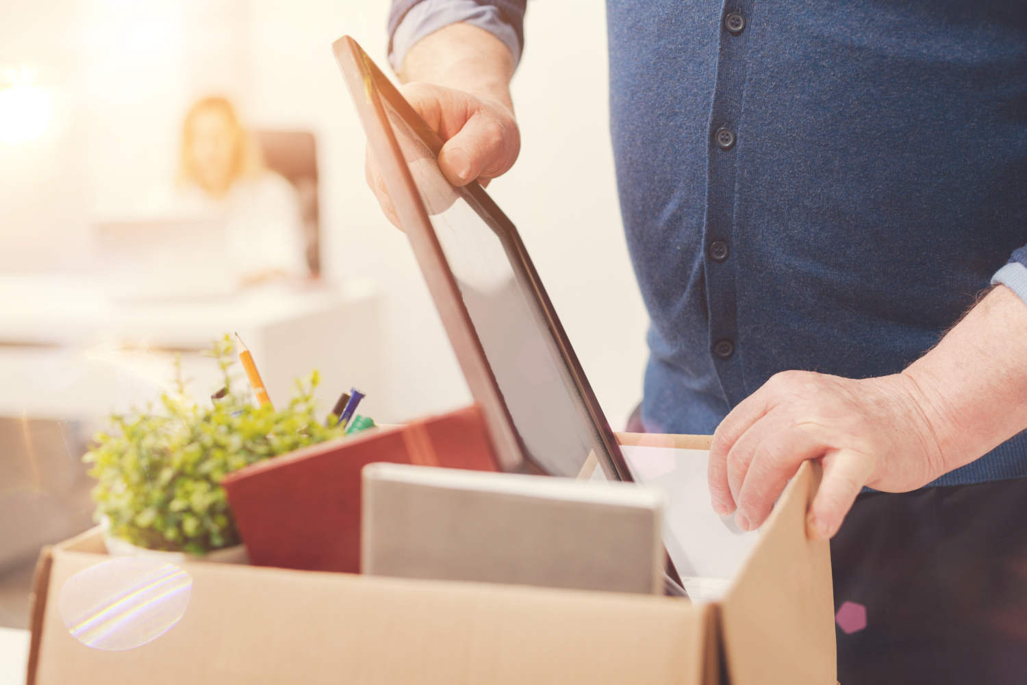 unpacking a box. Easy decluttering tips how to declutter without overwhelm