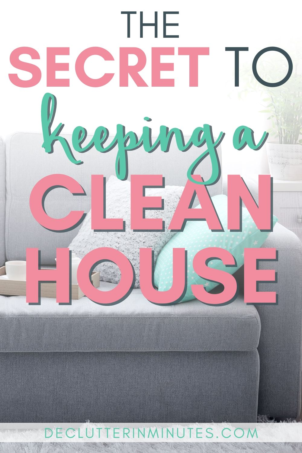 Frustrated by a home that is always cluttered? Do you spend time cleaning things out only to struggle to keep them clutter free? Try my room reset and finally learn a super simple way to keep your home free of clutter. #clutter #declutter #cleaningtips #organize #declutterinminutes