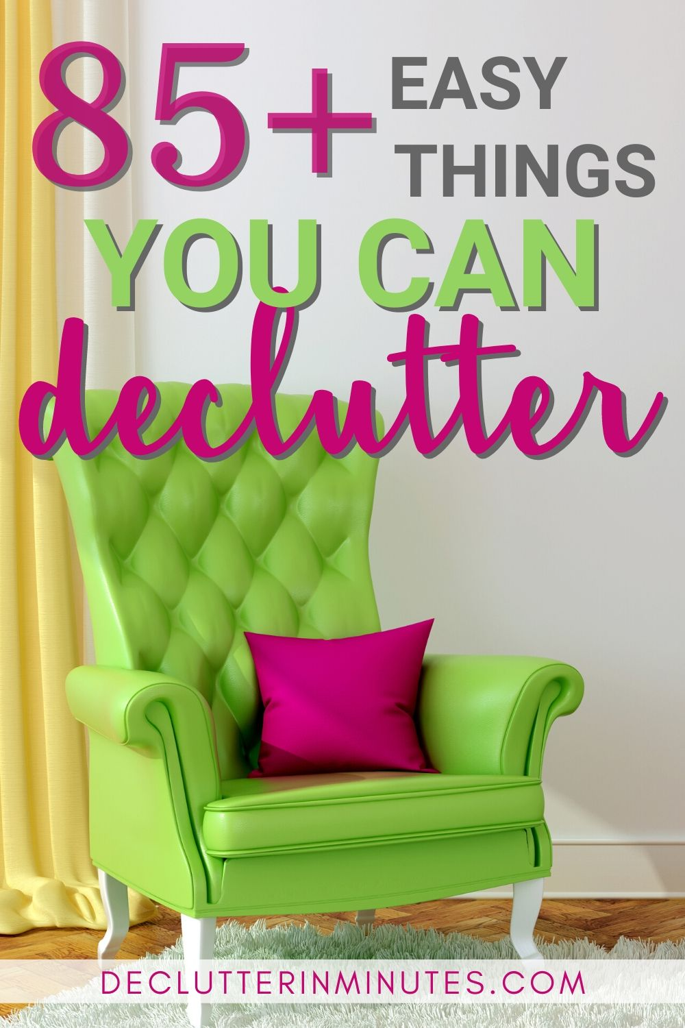 Wish there was an easy way to declutter? Wish there was a checklist you could just follow? A list that took you room by room and showed you simple things you can declutter without freaking out? Well, that is exactly what I have for you! Your free decluttering checklist that will help you with things to declutter your home fast. Remove the clutter so you can organize your room and home without overwhelm. Get started decluttering today. #clutter #declutterchecklist #declutterinminutes