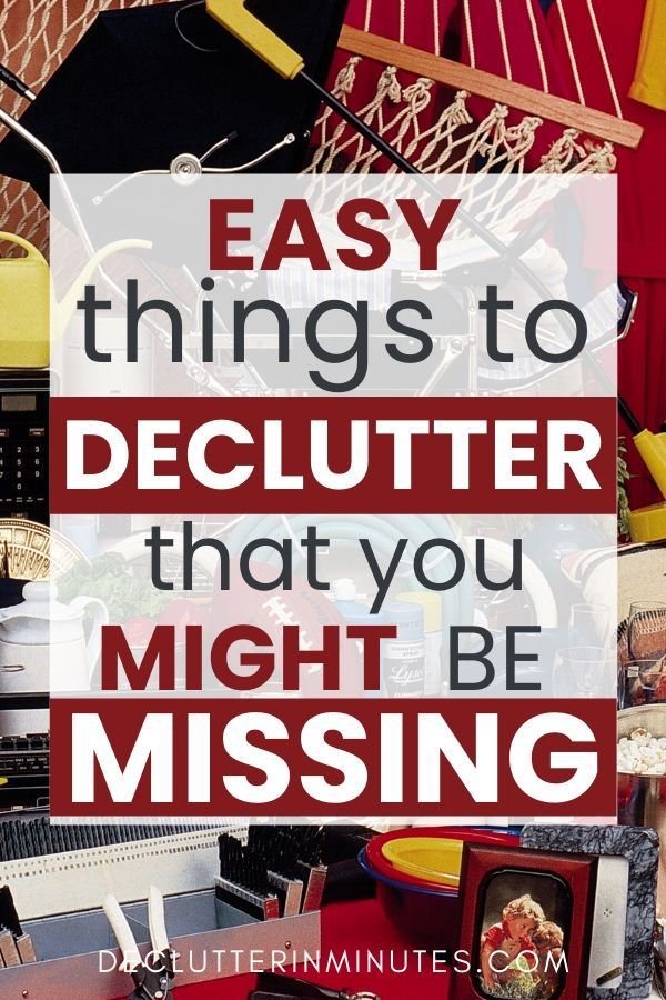 85 easy things to declutter that you might be missing. Get rid of these 85 things and remove the clutter from your home. How to get started decluttering. What to get rid of when you are stuck with clutter. #clutter #declutterchecklist #declutterinminutes