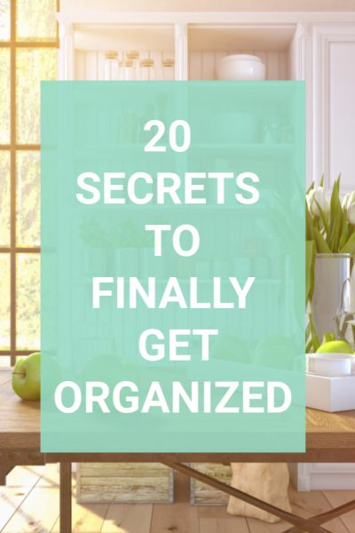 Wish there was a list of secrets you could turn to so you can finally clean out your home and organize it once and for all? Well, there is and this is it. Get 20 secrets of decluttering that will help you create a clutter-free and organized home once and for all. Simple decluttering tips you can use today and easy organizing tasks to streamline your home once and for all. #organizingsecrets #organize #declutter #declutterinminutes