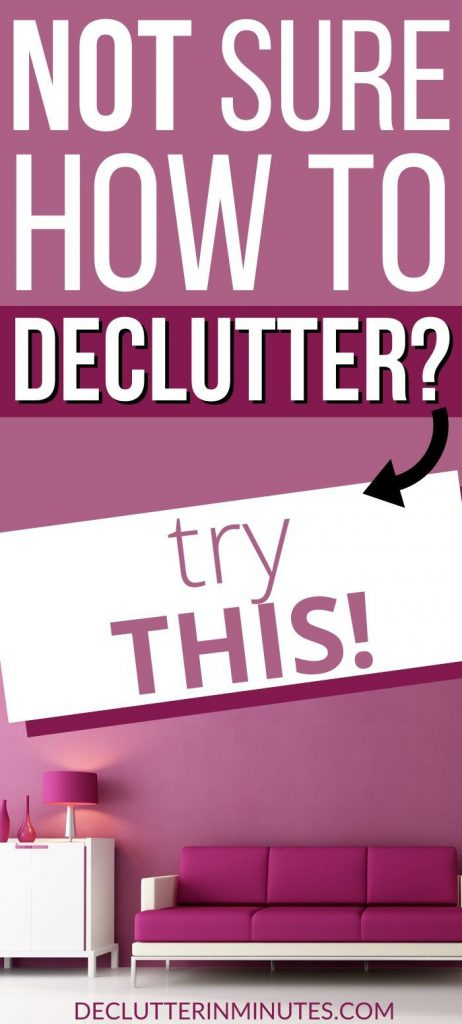 how to create a decluttering plan