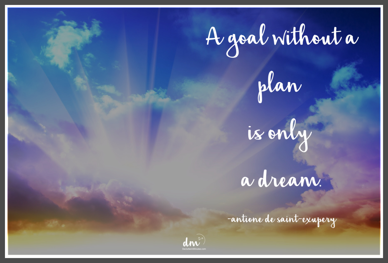 a goal without a plan is only a dream quote