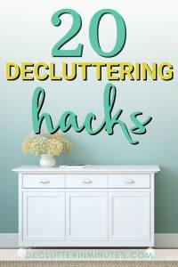 home decluttering hacks