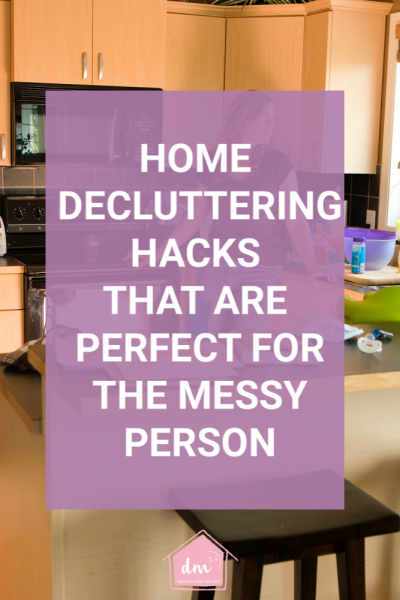 If you are a messy person than maybe a little clutter help is what you need. Home decluttering hacks that are meant for the messy and cluttered person will help you create an organized home you love. Remove the overwhelm of decluttering and use these tips to clean and organize each room in your home. #declutter #homedeclutteringtips #declutterinminutes
