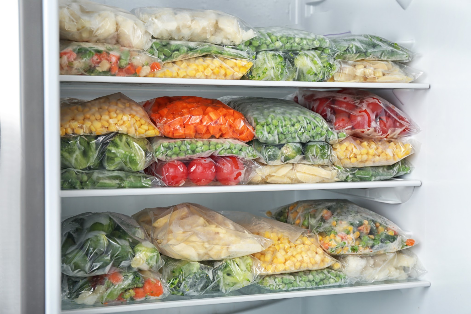 organized clean freezer