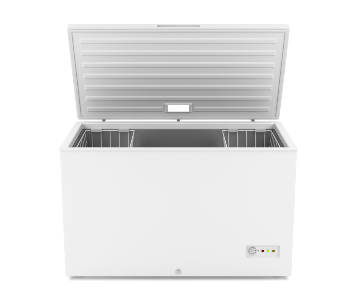 a clean chest freezer