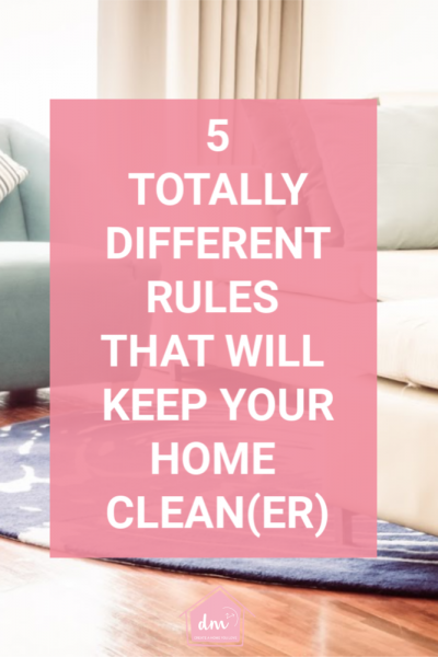 If you hate to clean, then you probably do whatever you can to avoid it. But, did you know there was an easier way to do it? Do your best to keep these 5 rules and your house will always be cleaner! #easyclean #cleaningshortcuts #cleanhome