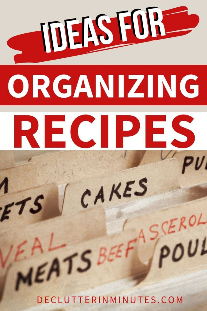 how to find ideas on organizing all those recipes