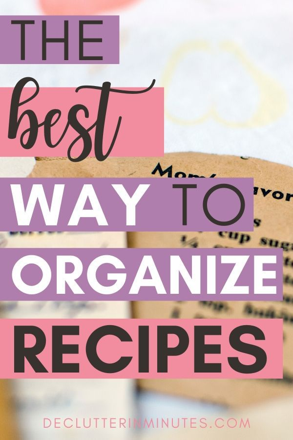 The best way to organize recipes