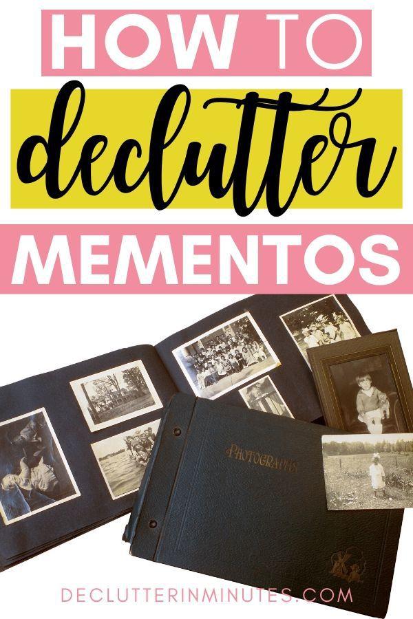 mementos, decluttering tips for sentimental items