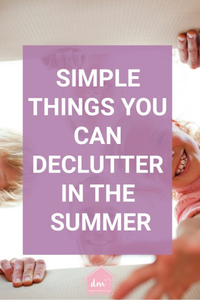 declutter in summer