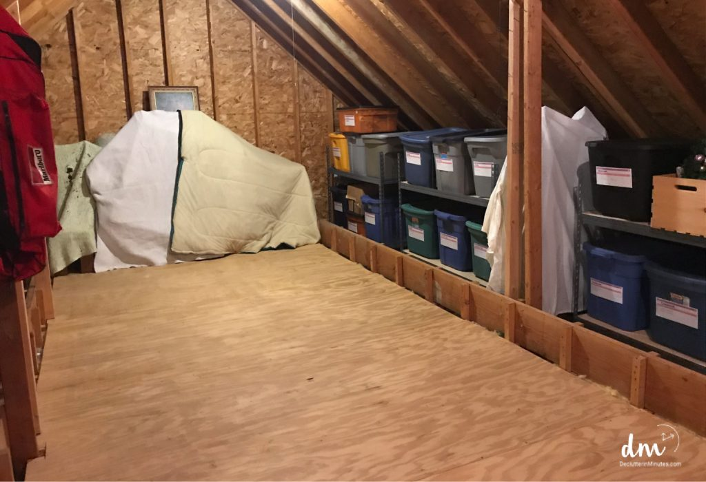 clean and organized attic