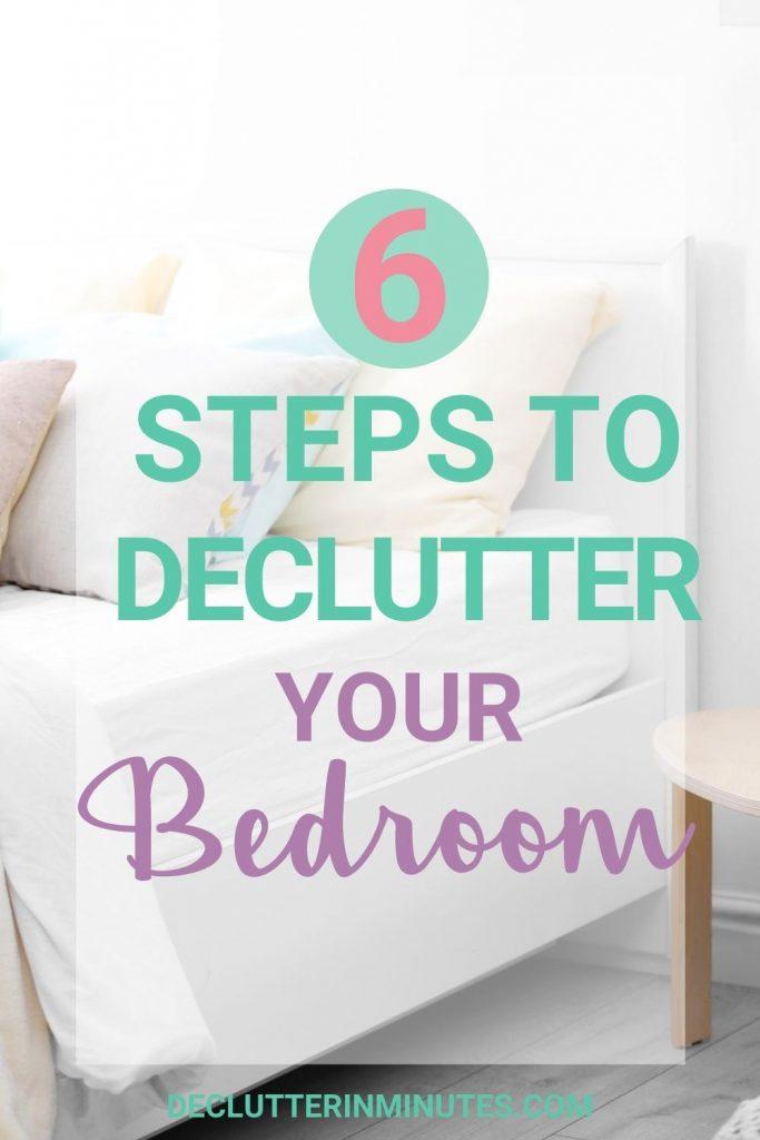 How to declutter a bedroom