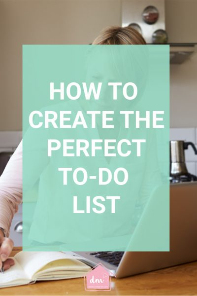 how to create the perfect to-do list