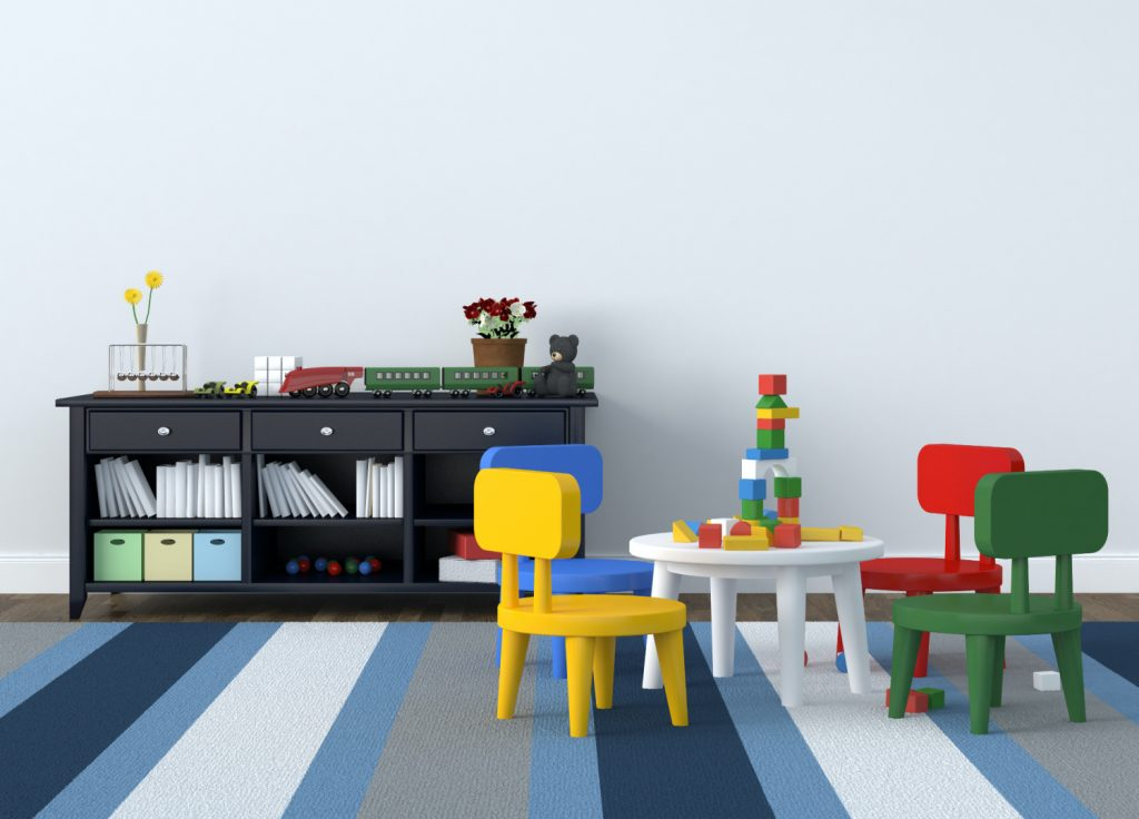 garage converted into a playroom