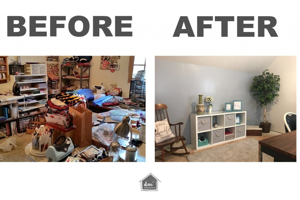 CRAFT ROOM BEFORE AND AFTER
