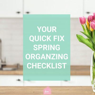 Spring Organizing Checklist