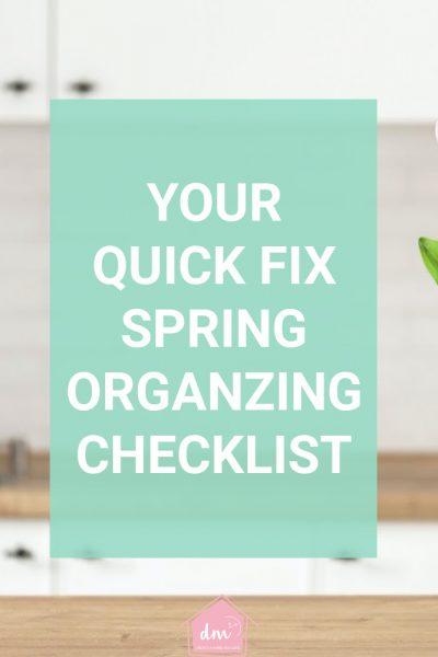 spring organizing checklist 1-2